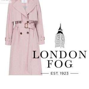 NWOT Vintage London Fog dusty pink belted trench 8